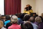 At a Zora Neale Hurston event in the UCF Library